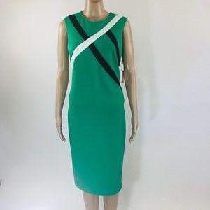 NWT Calvin Klein Green Sleeveless Dress Size 10